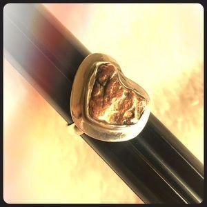 Authentic Michigan State .925 Silver Copper  Ring